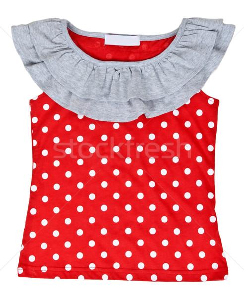 red baby clothes with polka dots Stock photo © RuslanOmega