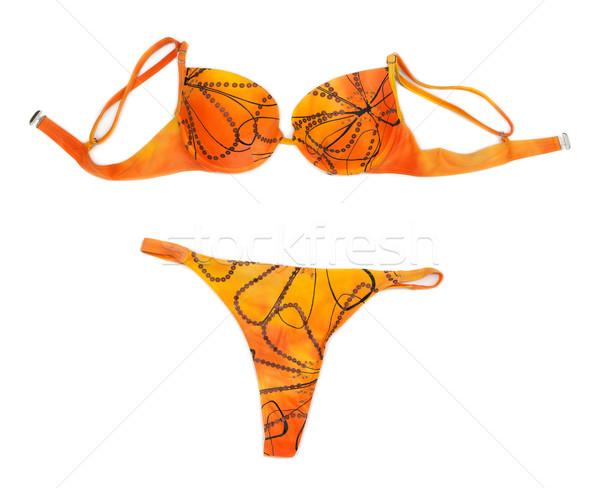 Orange halter bikini Stock photo © RuslanOmega