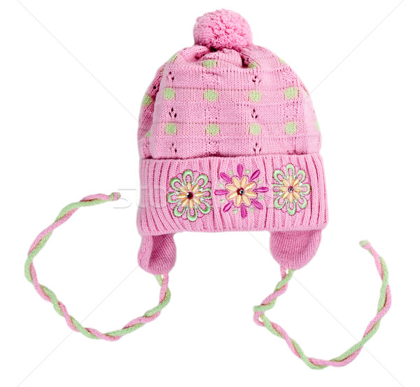 baby knitted hat with a flower pattern Stock photo © RuslanOmega