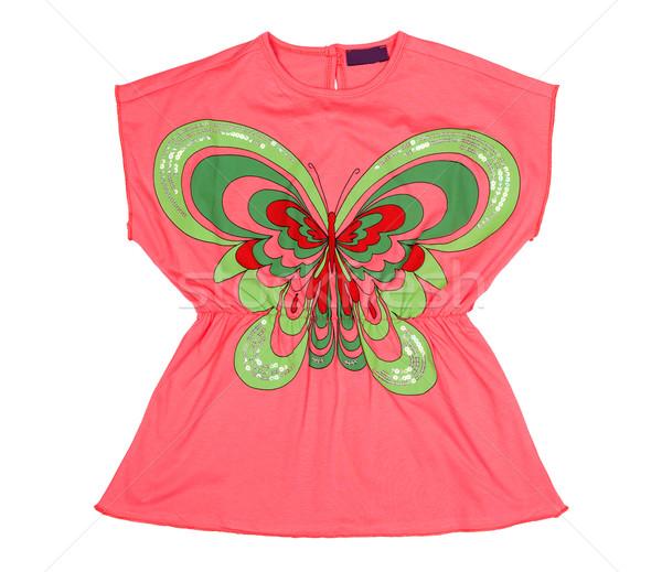 Stockfoto: Roze · tuniek · vorm · vlinder · vrouwen · mode