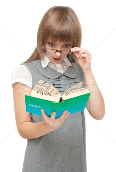 Młoda dziewczyna angielski dziewczyna kobiet szczęśliwy student Zdjęcia stock © RuslanOmega