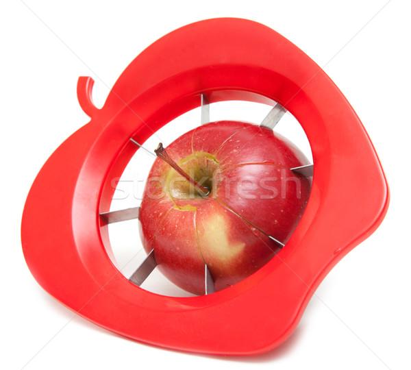 Piros alma különleges kés vág alma gyümölcs Stock fotó © RuslanOmega