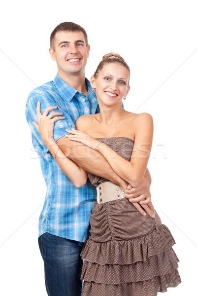 Stockfoto: Aantrekkelijk · paar · gelukkig · glimlachend · jonge