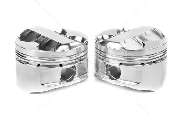 set of two polished forged pistons Stock photo © RuslanOmega