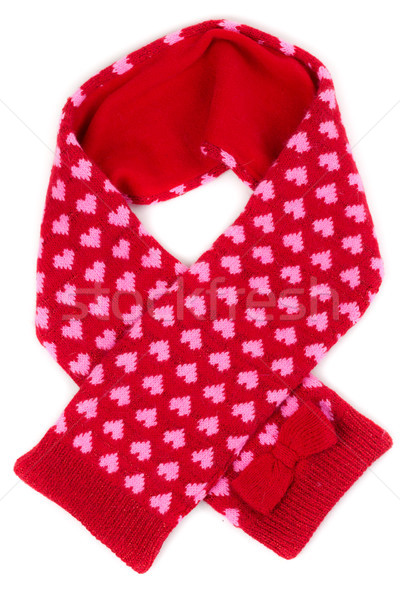 red scarf with a pattern of heart Stock photo © RuslanOmega