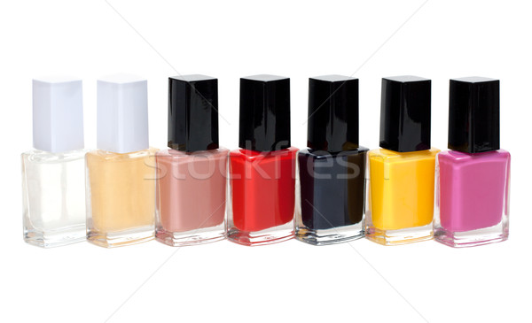 Colour varnish for nail exposed in row Stock photo © RuslanOmega