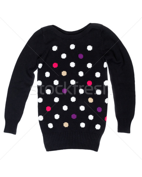 Black sweater with a pattern of polka dots Stock photo © RuslanOmega