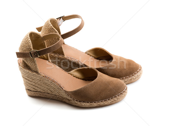 pair of brown suede women's shoes. Stock photo © RuslanOmega
