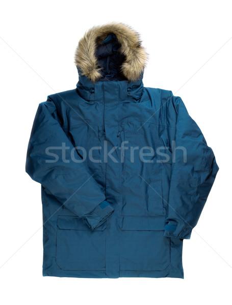 Winter jacket with fur on the hood. Stock photo © RuslanOmega
