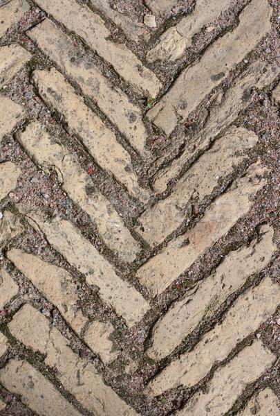 Stone pattern on land roadway Stock photo © RuslanOmega