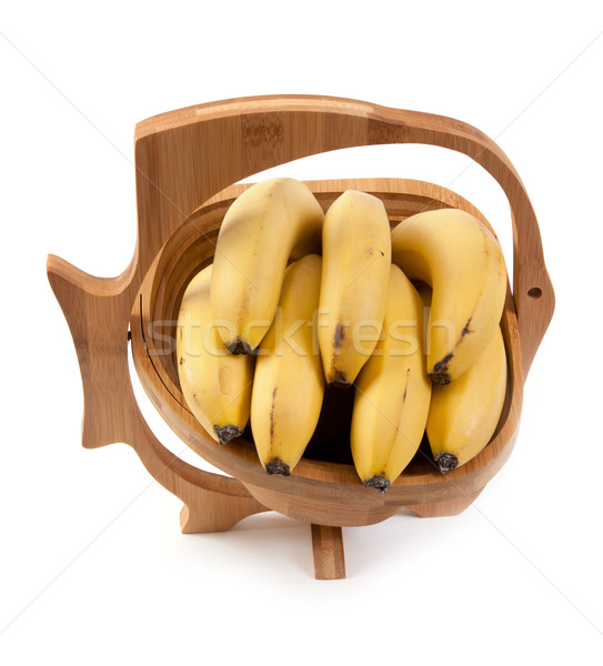 Wooden vase with ligament banana Stock photo © RuslanOmega