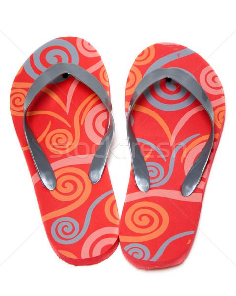 Red beach footwear Stock photo © RuslanOmega