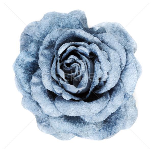 ストックフォト: 青 · バラ · 抽象的な · 背景 · ファブリック
