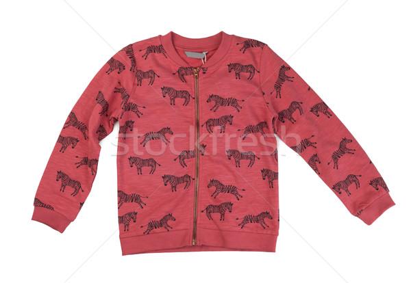 Rot Sweatshirt Muster Zebra weiß Stock foto © RuslanOmega