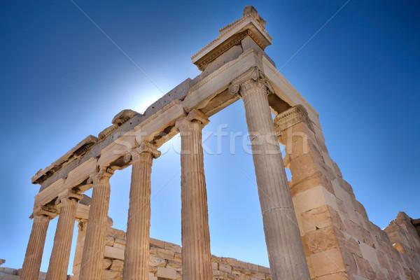 Anciens colonnes archéologie Photo stock © russwitherington