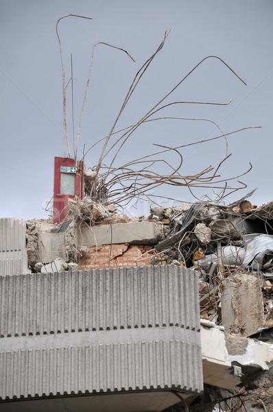Yıkım yangın çıkmak Bina beton Stok fotoğraf © russwitherington