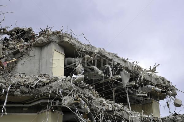 Côté bâtiment processus concrètes fil construction Photo stock © russwitherington