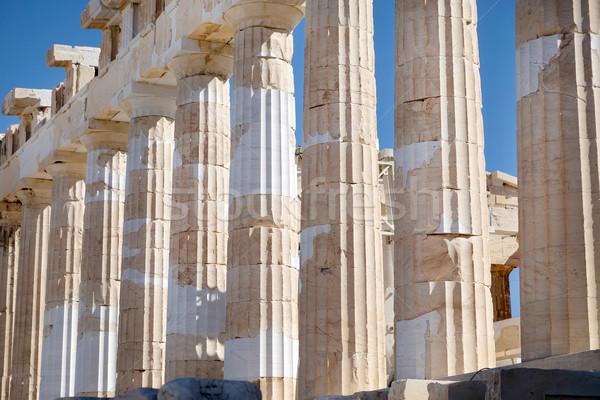 Partenón detalle Acrópolis Atenas Grecia piedra Foto stock © russwitherington