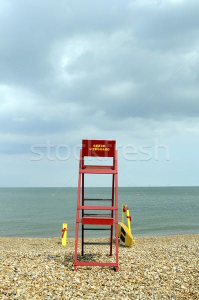 ビーチ ライフガード ポスト 見える 外に ストックフォト © russwitherington