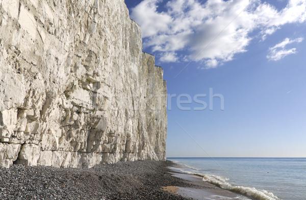 Kafa altında beyaz tebeşir Stok fotoğraf © russwitherington