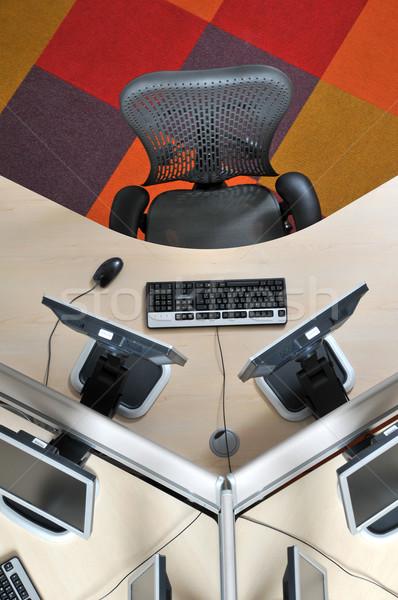 Sıcak büro üzerinde ofis bilgisayar Stok fotoğraf © russwitherington