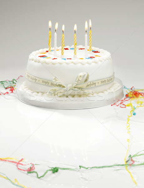 Birthday cake Stock photo © russwitherington