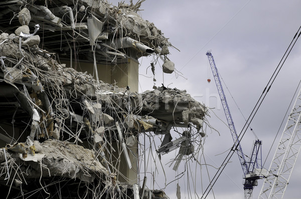 Demolition and cranes Stock photo © russwitherington