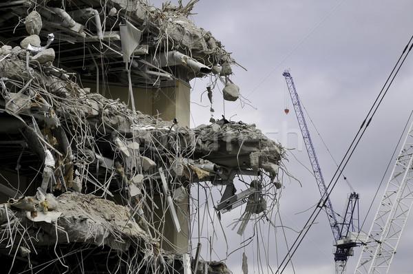 Demolición edificio concretas desarrollo Foto stock © russwitherington