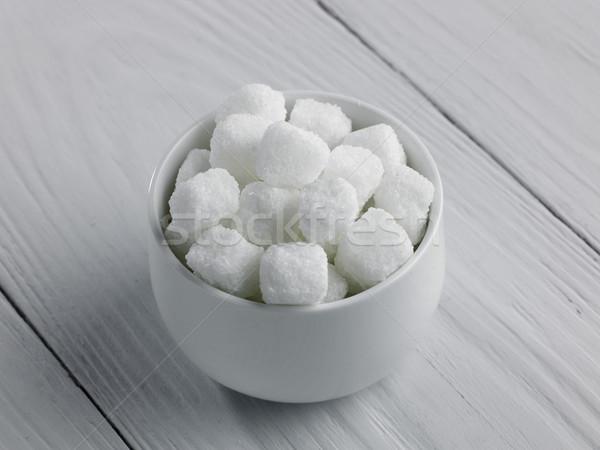 Bol Rock sucre blanche bois surface Photo stock © russwitherington