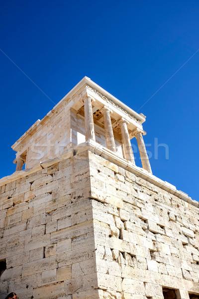 寺 ナイキ 表示 建物 ギリシャ語 ストックフォト © russwitherington