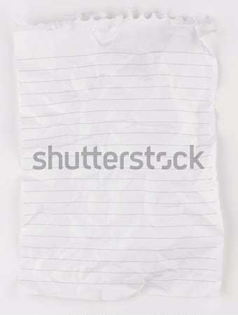 Crumpled notepa[er Stock photo © russwitherington