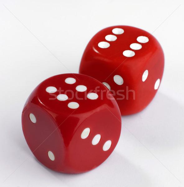 Dés deux rouge blanche doubler Photo stock © russwitherington