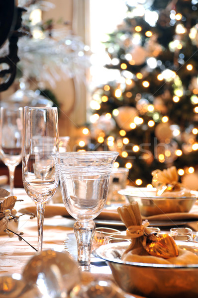 Christmas dining table Stock photo © russwitherington