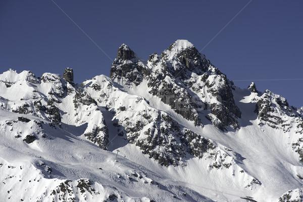 Français alpes neige couvert alpine Photo stock © russwitherington