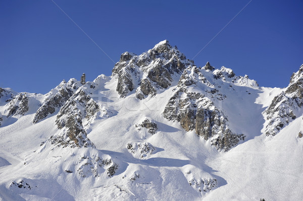 french alpine peak Stock photo © russwitherington