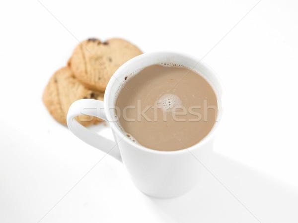 Blanche café au-dessus stylisé élevé clé Photo stock © russwitherington