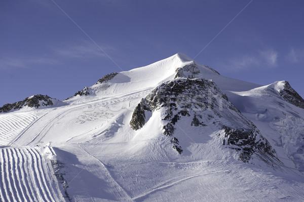 Dağ buzul fransız alpler kar Stok fotoğraf © russwitherington