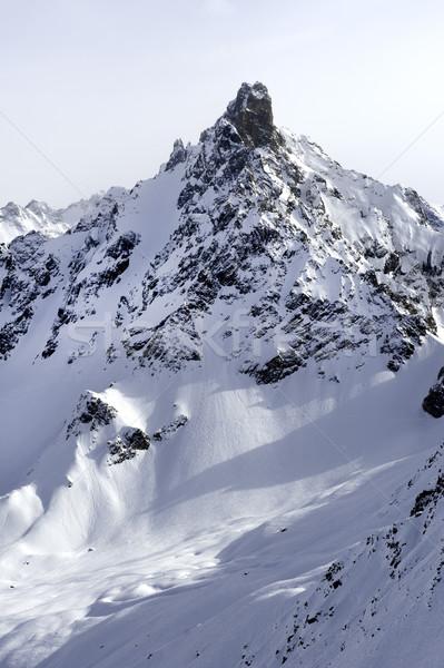 Alpino montanha neve coberto francês Foto stock © russwitherington