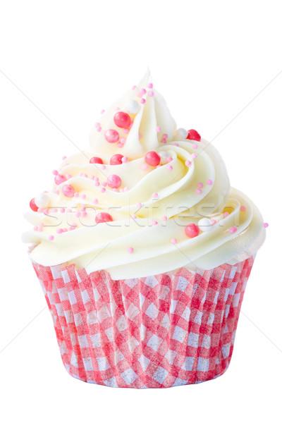 Pink and white cupcake Stock photo © RuthBlack