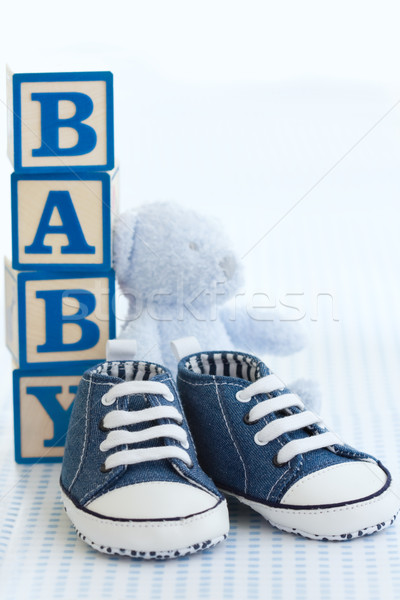 Blue baby shoes Stock photo © RuthBlack