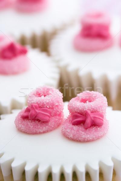 Photo stock: Bébé · douche · décoré · rose