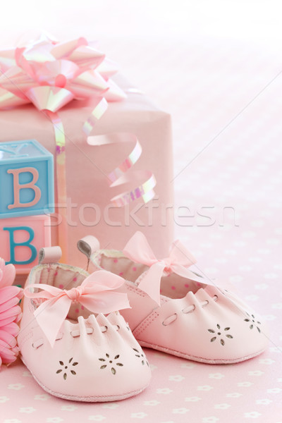 Pink baby shoes Stock photo © RuthBlack