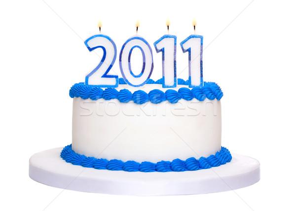 2011 торт праздновать Новый год продовольствие вечеринка Сток-фото © RuthBlack