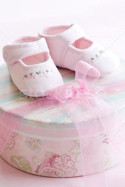 Pink baby shoes Stock photo © RuthBlack
