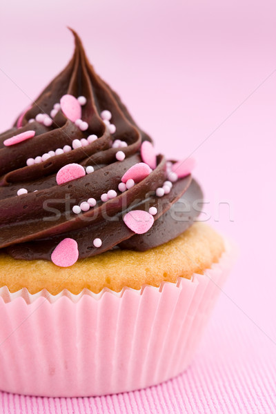 Pink chocolate cupcake Stock photo © RuthBlack