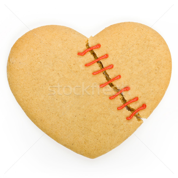 Broken heart cookie Stock photo © RuthBlack