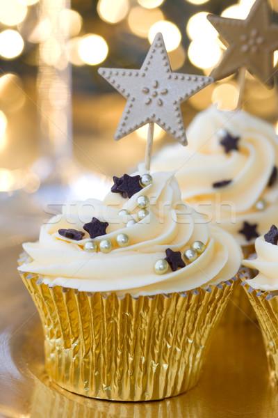 New Year celebration cupcakes Stock photo © RuthBlack