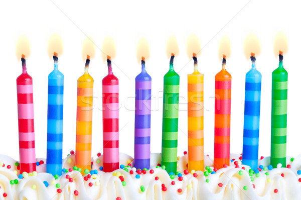 Stock photo: Birthday candles