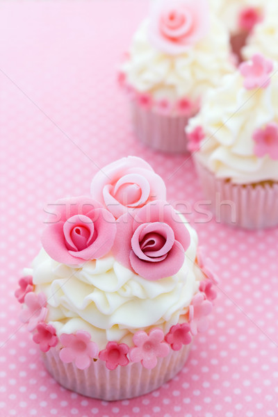 Photo stock: Rose · décoré · rose · sucre · roses