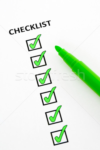 Green checklist Stock photo © RuthBlack